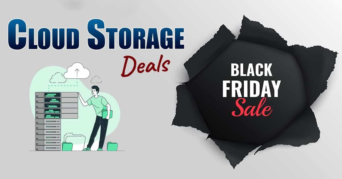 black friday cloud storage deals