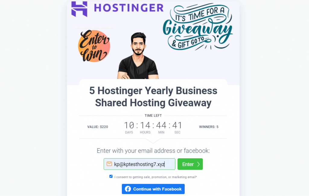 hostinger hosting giveaway