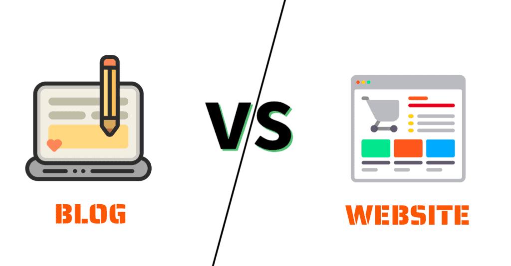 difference between blog vs website