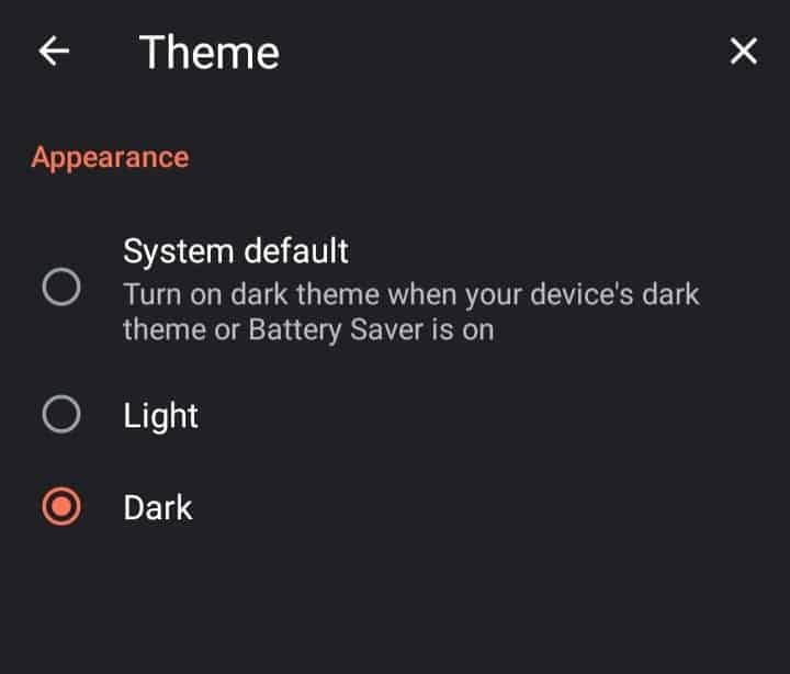 brave browser dark mode
