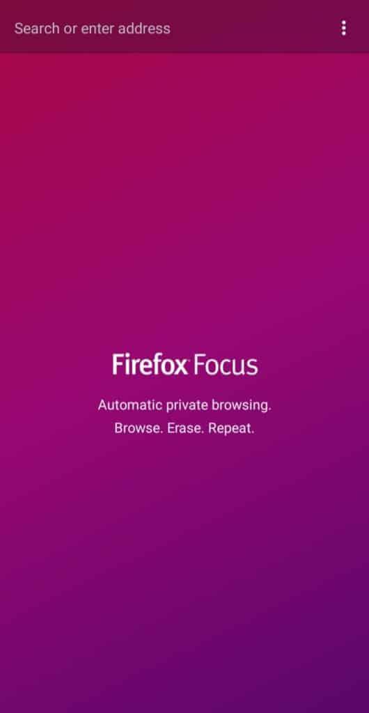firefox focus interface