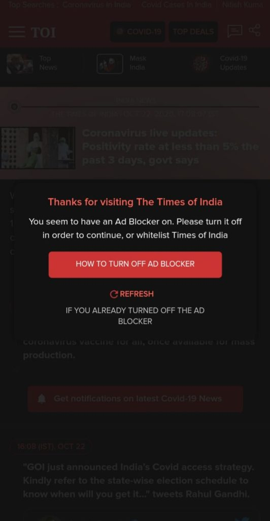 jio pages ad blocker
