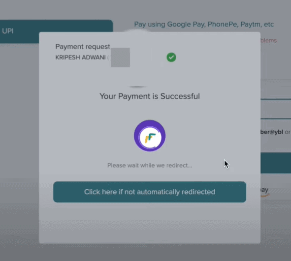dynadot payment successful
