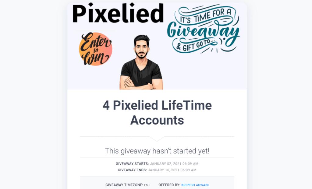pixelied giveaway