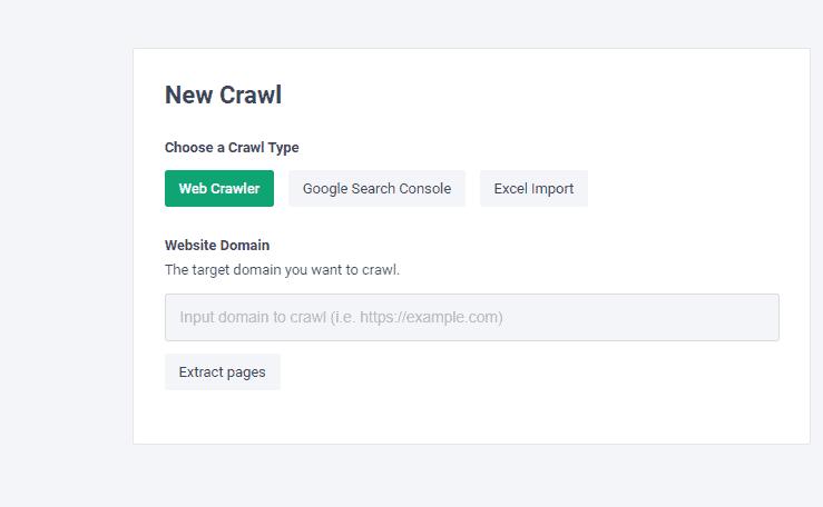 frase setup website crawl