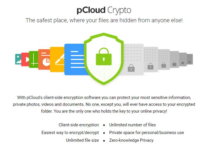 pcloud zero knowledge encryption