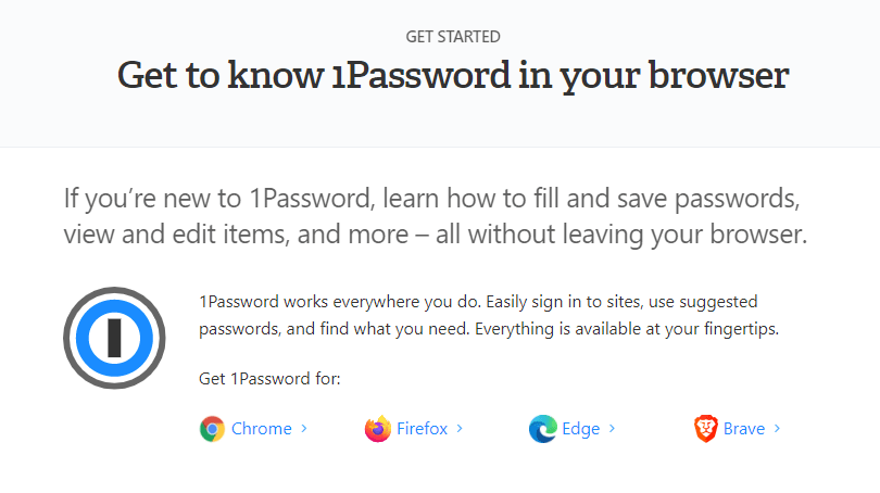 1password browsers