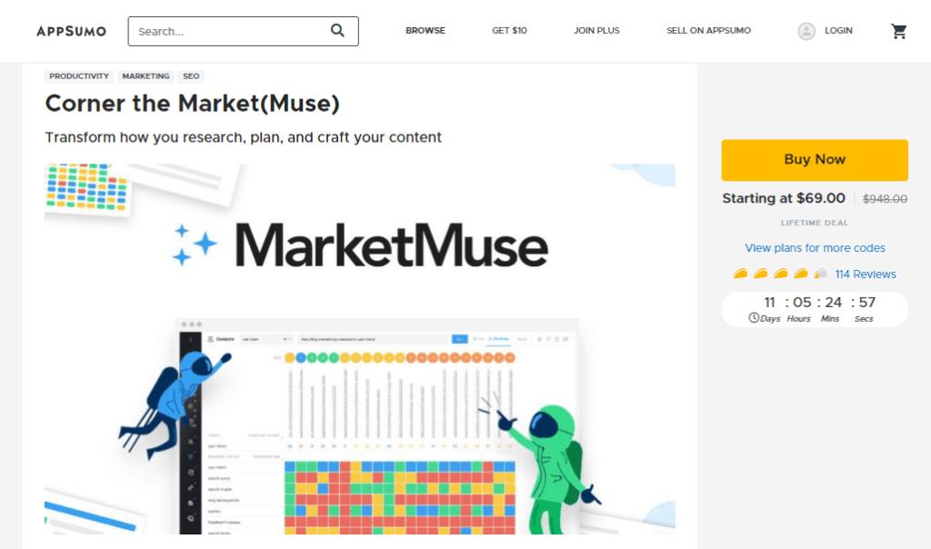 AppSumo MarketMuse deal