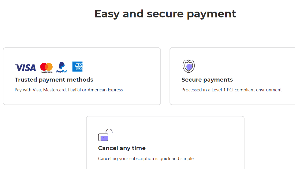 Envato Elements Payment methods