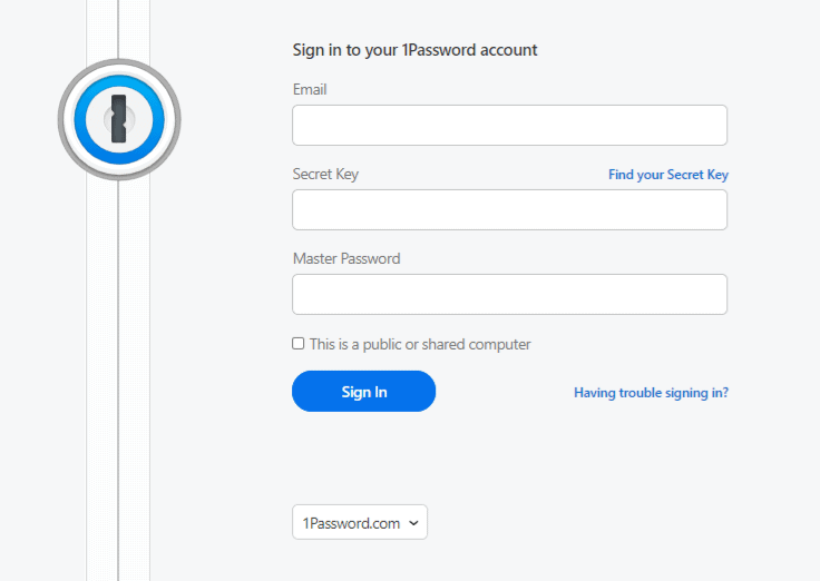 how to use 1Password step 2