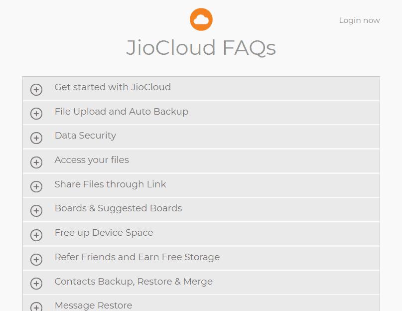 JioCloud FAQ