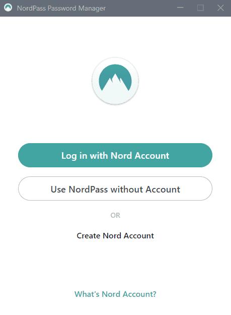 Step 1 Create Nord Account