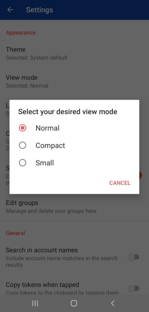 Aegis view modes