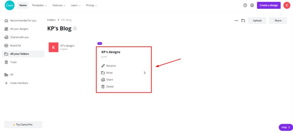 Canva Free Folders