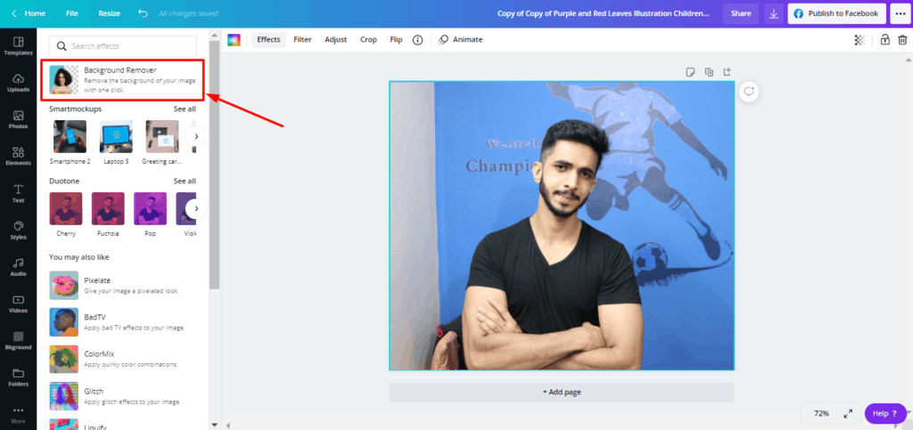 Canva highlight effect - Remove background
