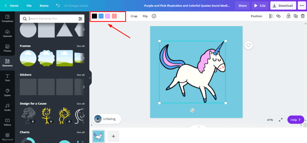 Customizing color of vector art