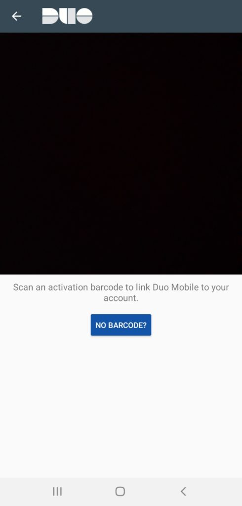 Duo Mobile barcode