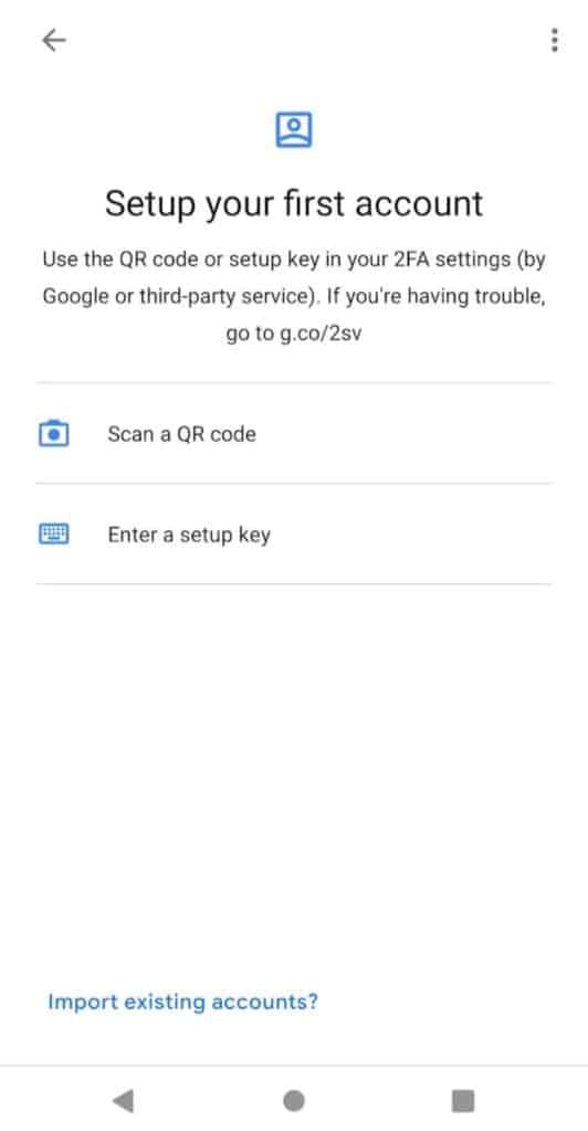 Google authenticator Easy to set up