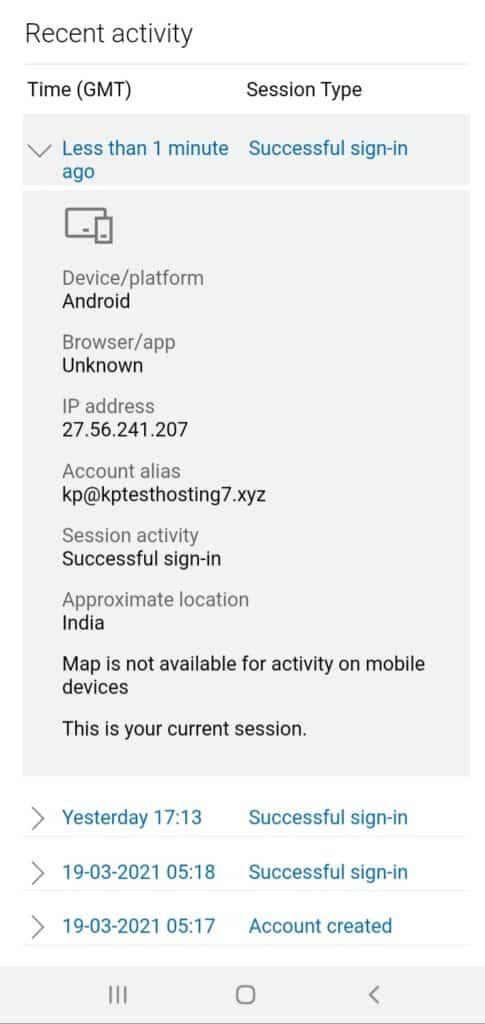 Microsoft recent activity