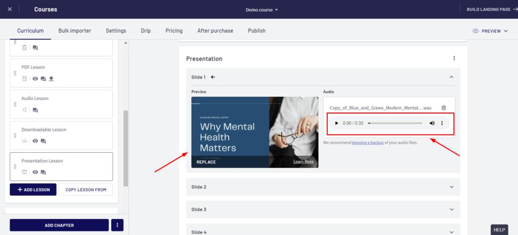 Thinkific Presentation Lessons