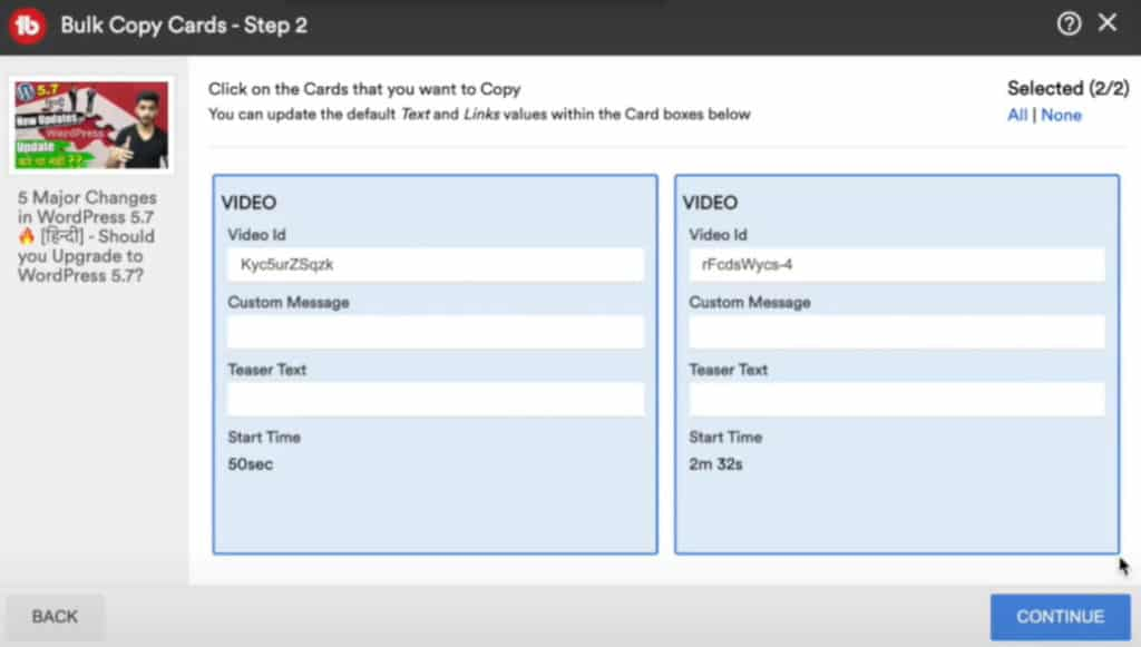 TubeBuddy Star plan - Cards _ End Screen Update