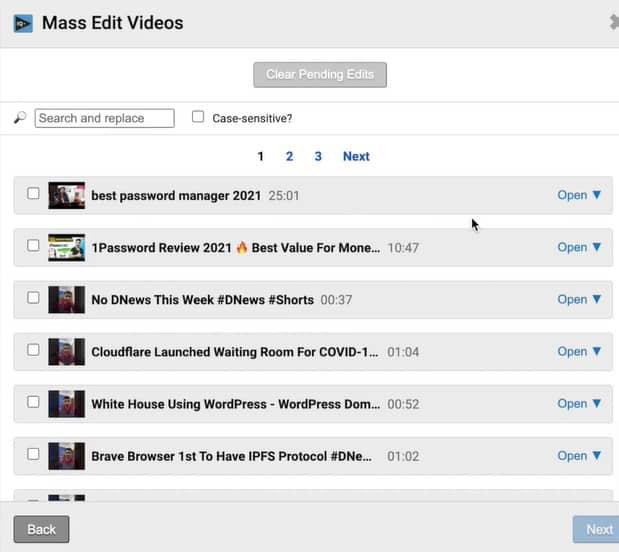VidIQ Mass Edits