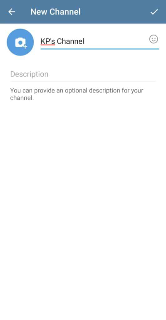 create new telegram channel