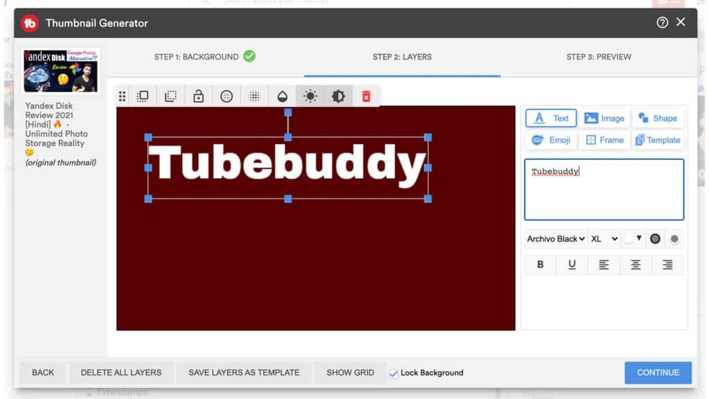 tubebuddy thumbnail generator
