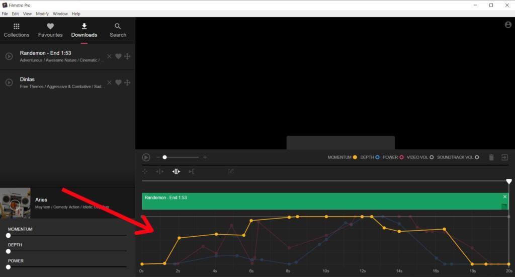 Filmstro keyframe graph editor