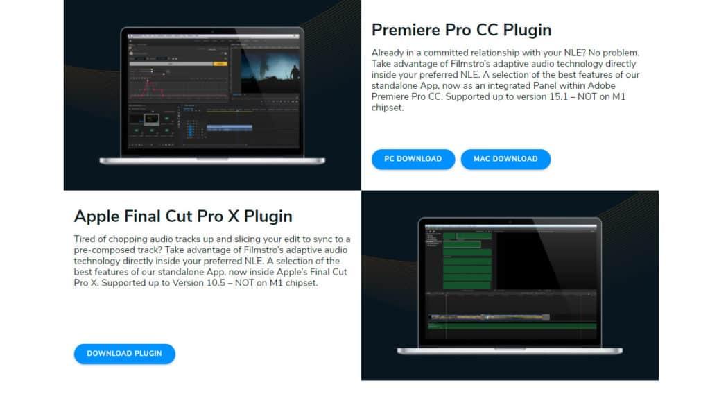 Filmstro plugins