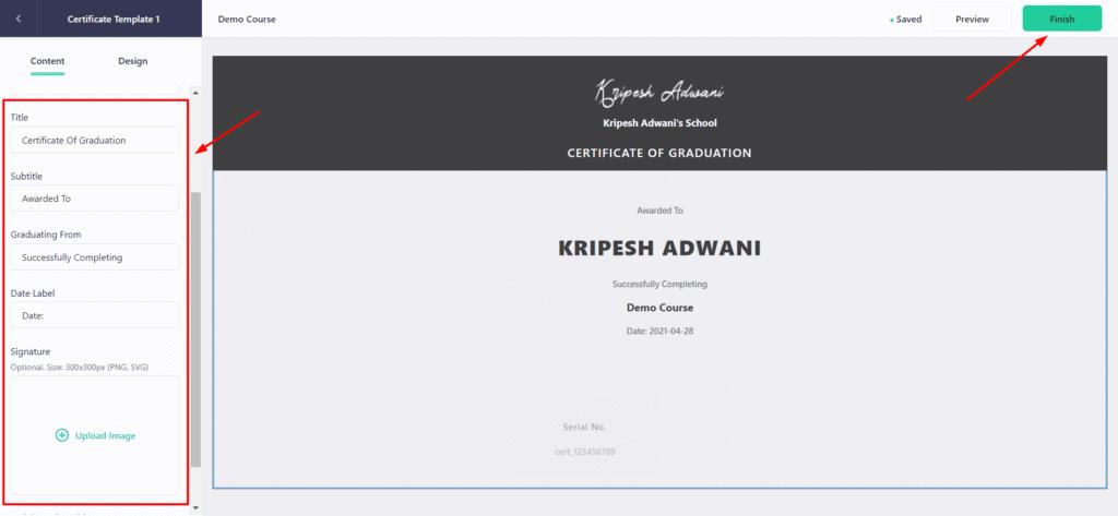 Teachable certificates