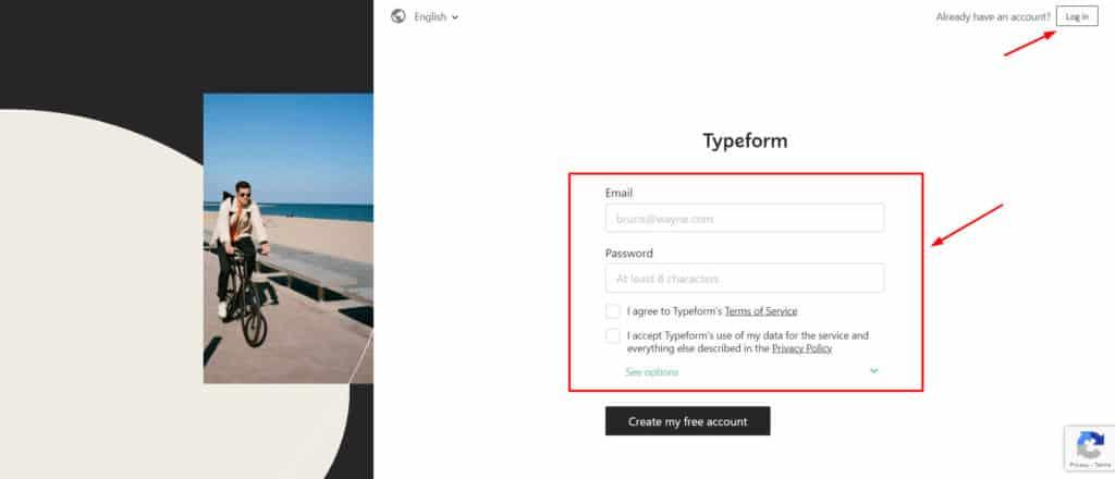 thinkific app create account