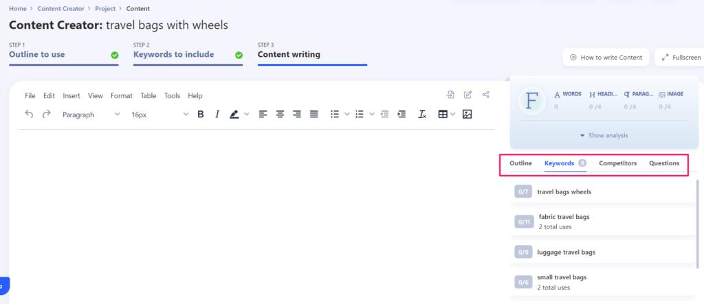 Content Creator step 3