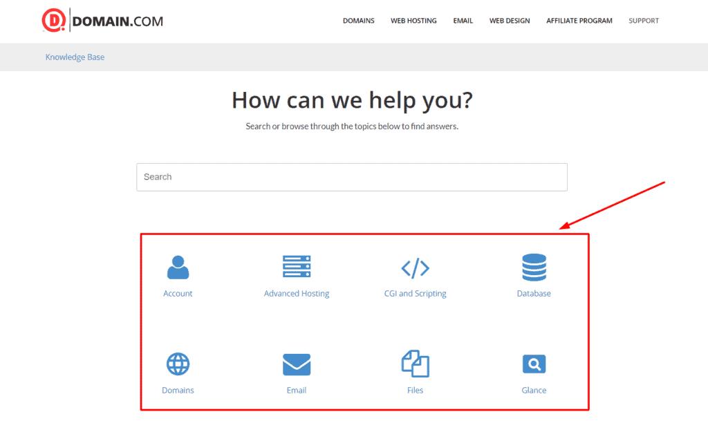 Domain.com support