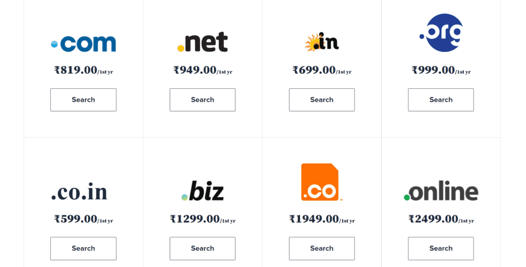 bluehost Domains Price
