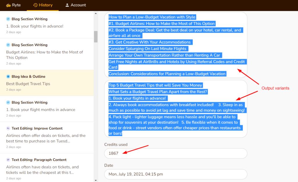 Long form content input 2
