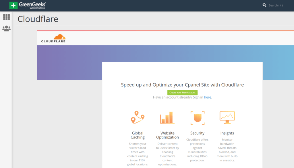 GreenGeeks cloudflare cdn