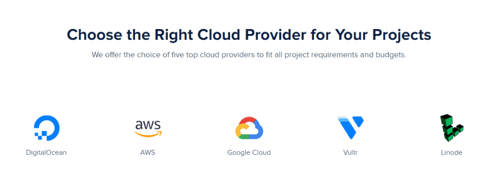 Cloudways Overview cloud providers