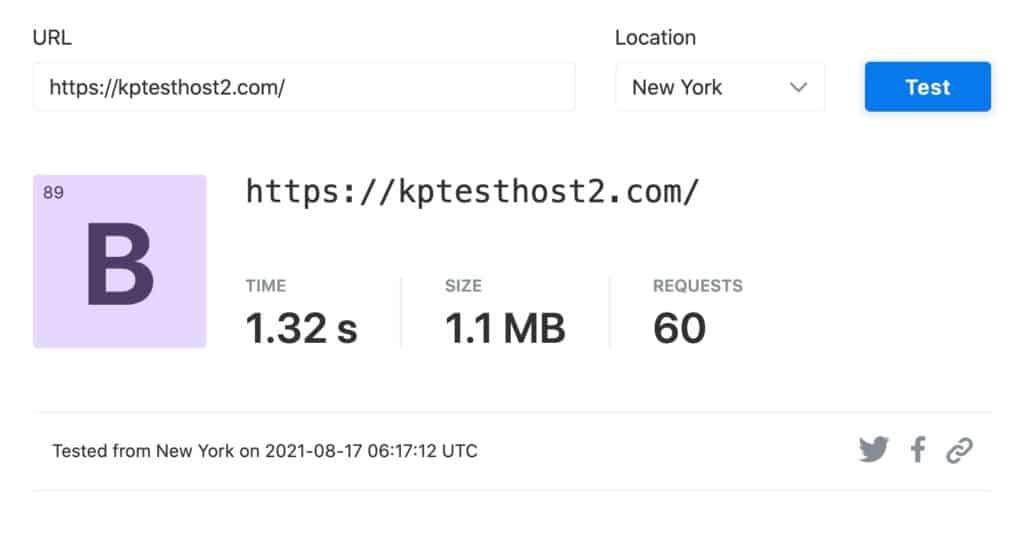 Speeds in New York (with Litespeed cache plugin)